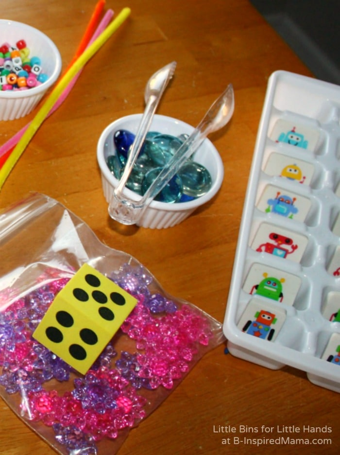 Travel Sensory Bin for Early Learning at B-Inspired Mama