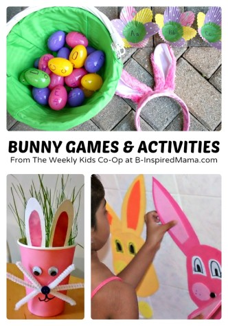 Fun Bunny Games and Activities for Kids + Weekly Kids Co-Op Link Party at B-Inspired Mama