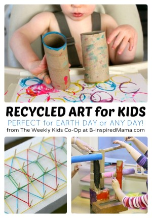 http://b-inspiredmama.com/wp-content/uploads/2014/04/Fun-Recycled-Art-Projects-for-Kids-+-The-Weekly-Kids-Co-Op-Link-Party-at-B-Inspired-Mama-300x428.jpg