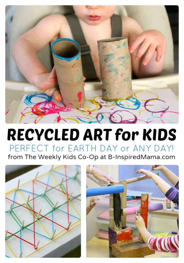 Recycled art projects for kids from the weekly kids co op for Art from waste ideas for kids
