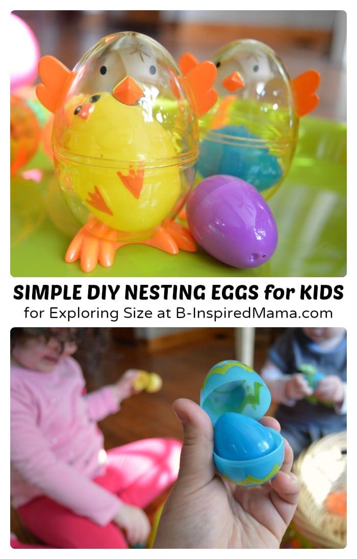 Nesting Easter Eggs with toys inside each egg