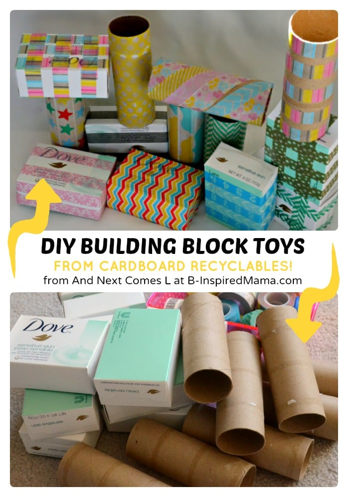 Easy diy toys recycled building blocks b inspired mama for Easy diy recycled projects