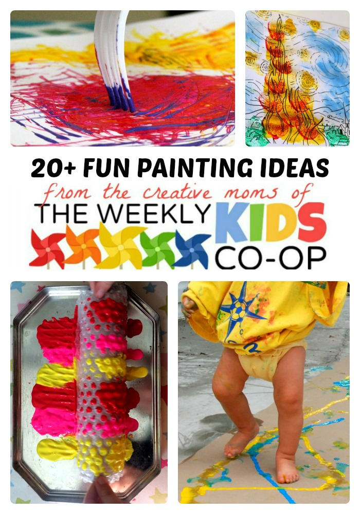 20+ Fun & Creative Painting Ideas for Kids + The Weekly Kids Co-Op Link Party at B-Inspired Mama
