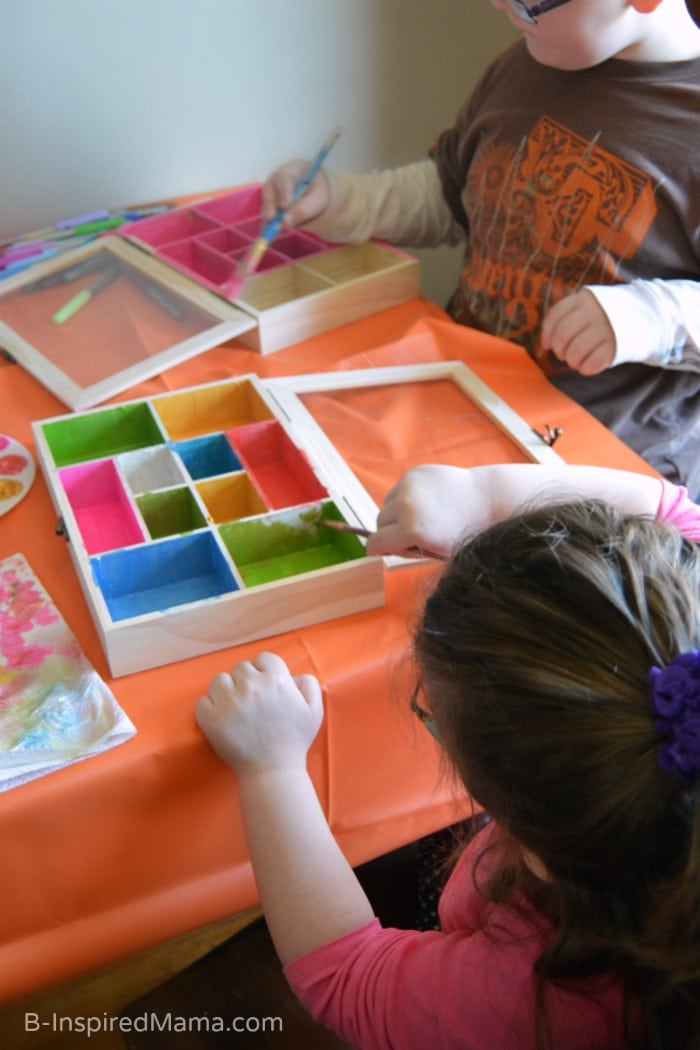 Collection Box Kids Craft - Painting - at B-Inspired Mama