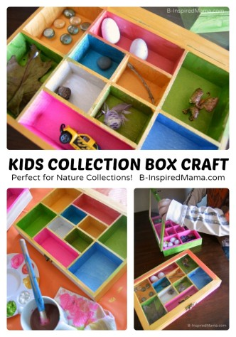 Collection Box Kids Craft - Perfect for Nature Collections - at B-Inspired Mama