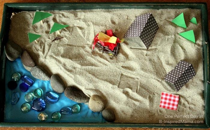 DIY Camping Sensory Play Set - at B-Inspired Mama