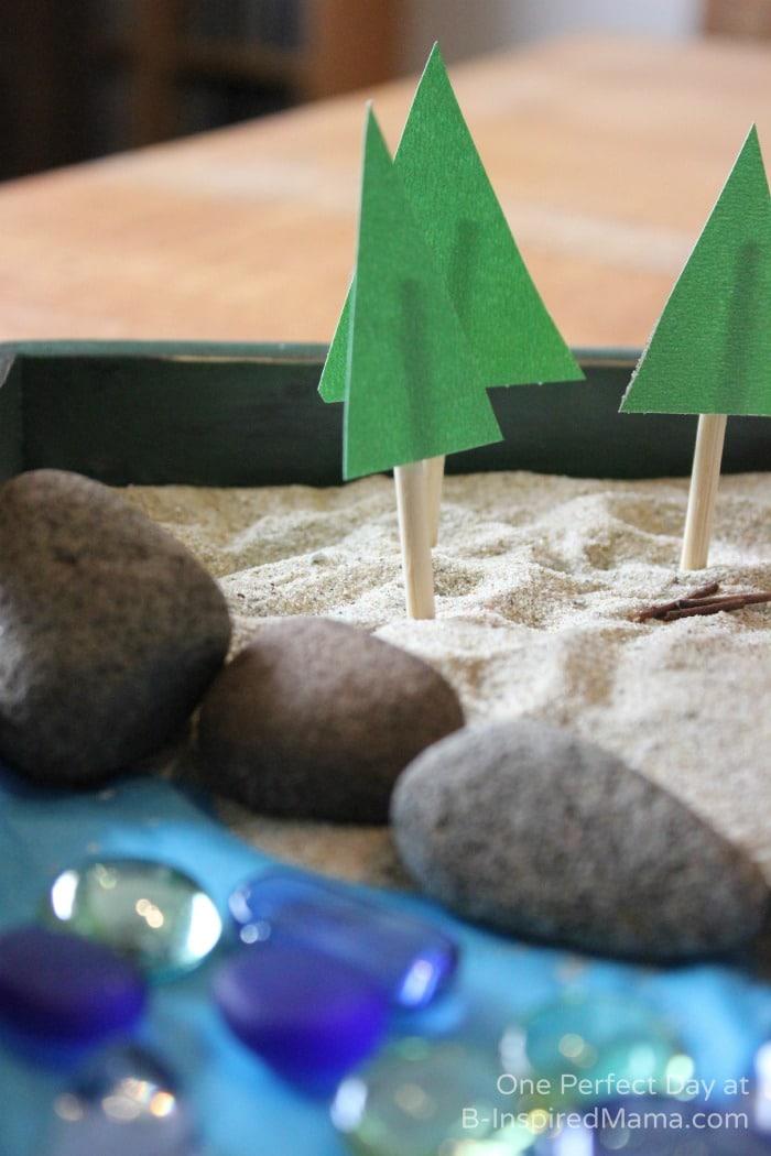 DIY Trees for Camping Sensory Play at B-Inspired Mama