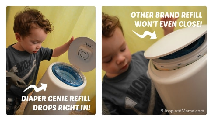 Diaper Genie Elite - For Taming Diaper Change Smells - [Sponsored by Playtex] at B-Inspired Mama