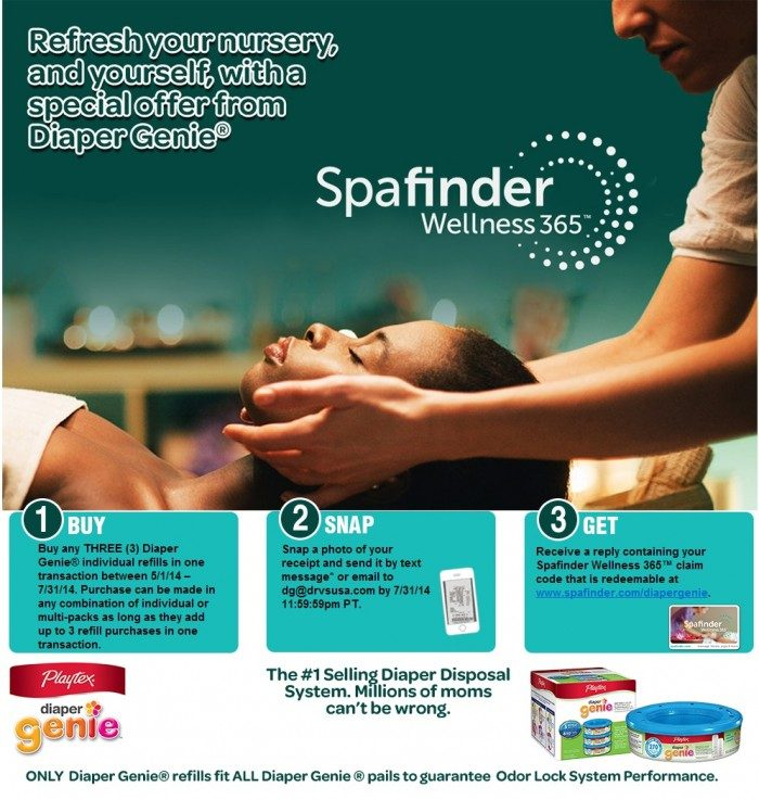 Diaper Genie and SpaFinder Promotion - Taming Diaper Change Smells [Sponsored by Playtex] at B-Inspired Mama