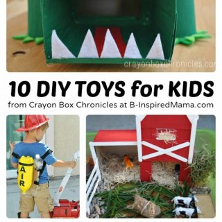 10 DIY Toys to Encourage Imagination at B-Inspired Mama