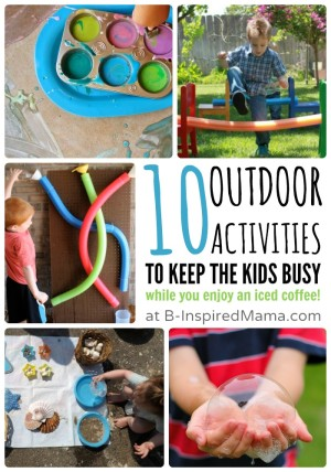 10 Outdoor Activities to Keep the Kids Busy While You Enjoy an Iced Coffee - #Sponsored by #IcedDelight at B-Inspired Mama