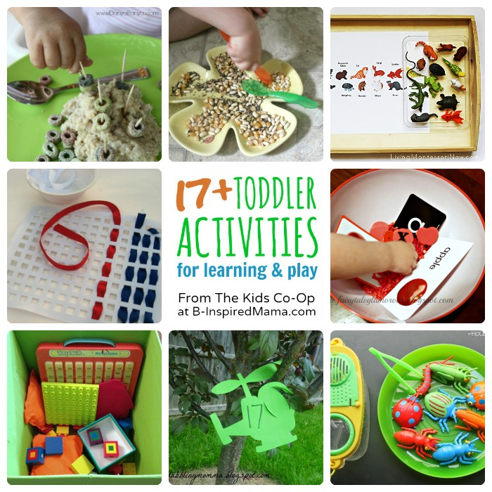17+ Toddler Activities from The Weekly Kids Co-Op Link Party at B-Inspired Mama