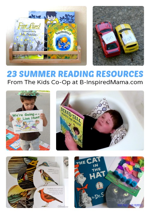 23 Resources for Summer Reading Fun + The Weekly Kids Co-Op at B-Inspired Mama