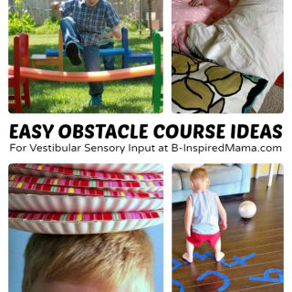 Easy Kids Obstacle Course Ideas + Sensory Processing Disorder