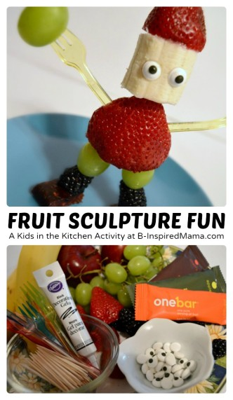 Fruit Sculpture Fun - A Kids in the Kitchen Activity [AD #EasyFruit] at B-Inspired Mama