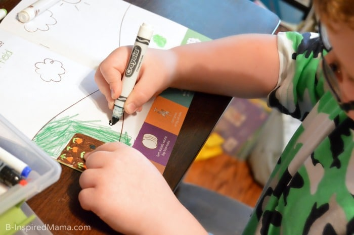 Fun Summer Activities Right to Your Door - Coloring in the Magazine [AD #KiwiSummerFun] at B-Inspired Mama