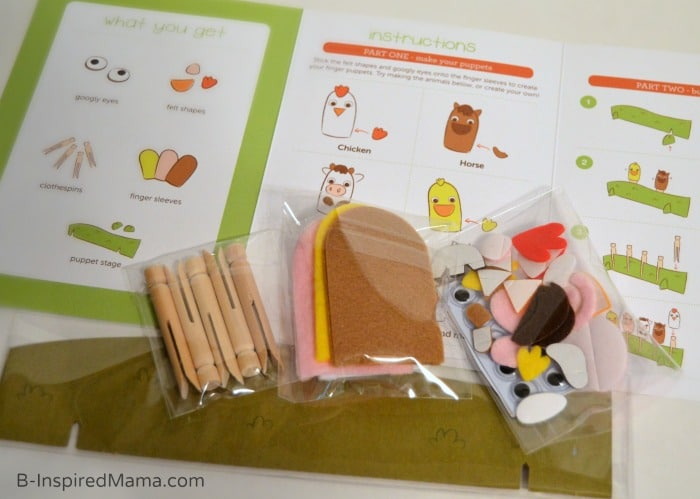 Fun Summer Activities Right to Your Door - Supplies for our Finger Puppets - [AD #KiwiSummerFun] at B-Inspired Mama