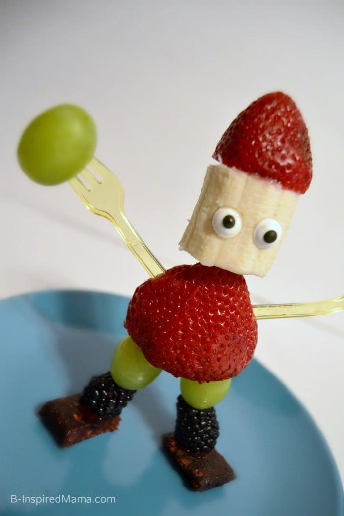 Kids in the kitchen fruit sculpture fun u b inspired mama