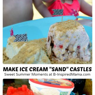 Make Ice Cream Sundae Sand Castles for Sweet Summer Moments - #Sponsored by Blue Bunny #MySweetFreedom - B-Inspired Mama