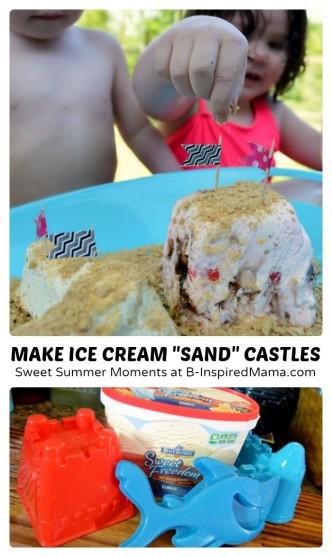 Make Ice Cream Sundae Sand Castles for Sweet Summer Moments - #Sponsored by Blue Bunny #MySweetFreedom - B-Inspired Mama
