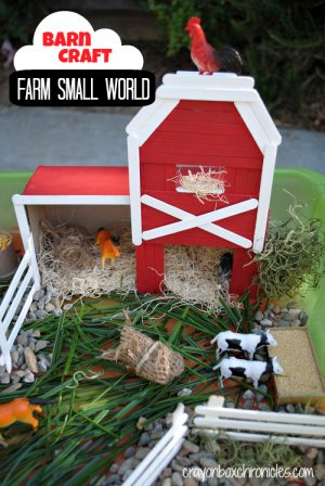 Barn Play Set - DIY Toys from Crayon Box Chronicles at B-Inspired Mama