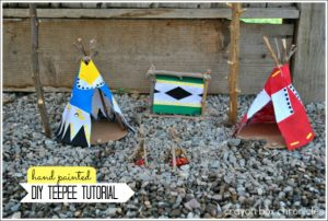 Native American Teepee Play Set - DIY Toys from Crayon Box Chronicles at B-Inspired Mama