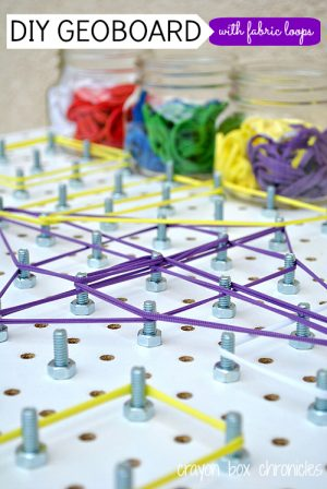 DIY Geoboard - DIY Toys from Crayon Box Chronicles at B-Inspired Mama