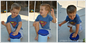 Native American Drum - DIY Toys from Crayon Box Chronicles at B-Inspired Mama