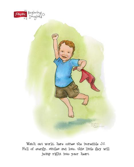 A Custom Illustration of J.C. - #Sponsored by Playtex Beginnings Imagined at B-Inspired Mama