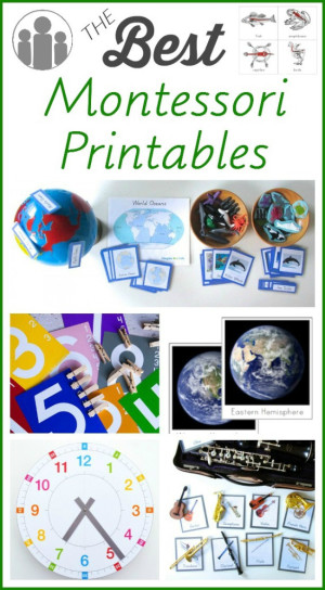 The Best Montessori Printables