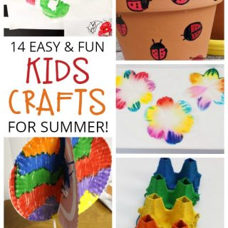 14 Easy Crafts for Kids to Fill the End of Summer and Kiss Boredom Goodbye!