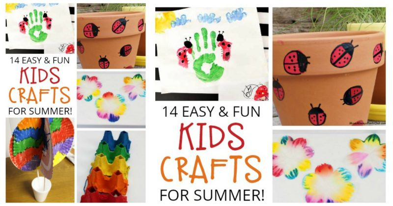 14 Easy Crafts For Kids To Fill The End Of Summer And Kiss Boredom
