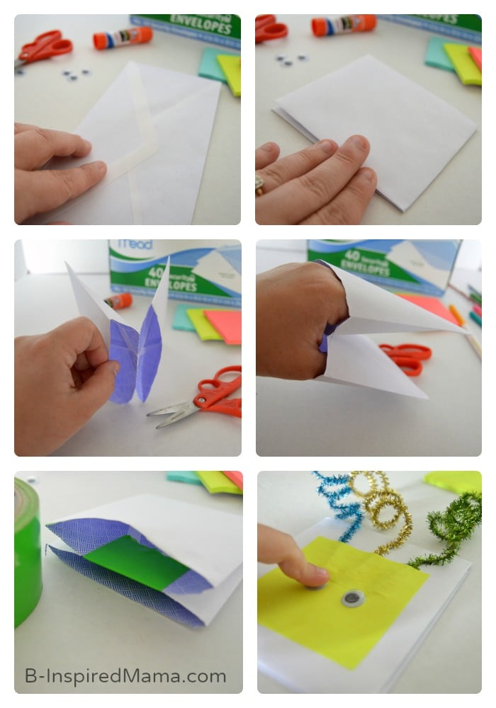 Making Our Muppet Inspired Envelope Puppet Craft - #sponsored #MuppetsMostWanted - B-Inspired Mama