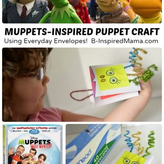 Muppet Inspired Envelope Puppet Craft - #sponsored #MuppetsMostWanted - B-Inspired Mama