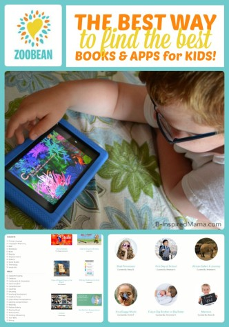 The Best Way to Find the Best Books and Apps for Kids - Zoobean at B-Inspired Mama #sponsored