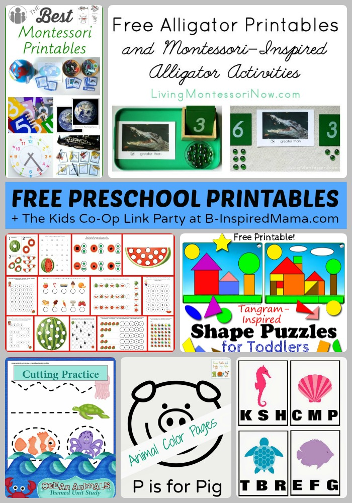 Tons of Free Preschool Worksheets & Printables