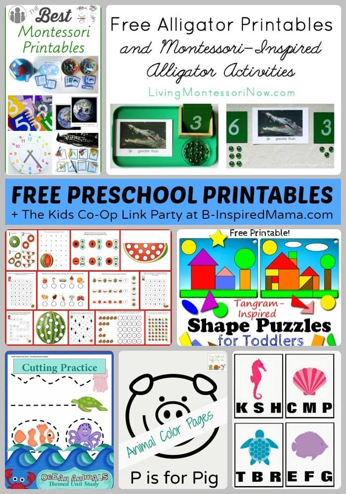 Tons Of Free Preschool Worksheets Amp Printables