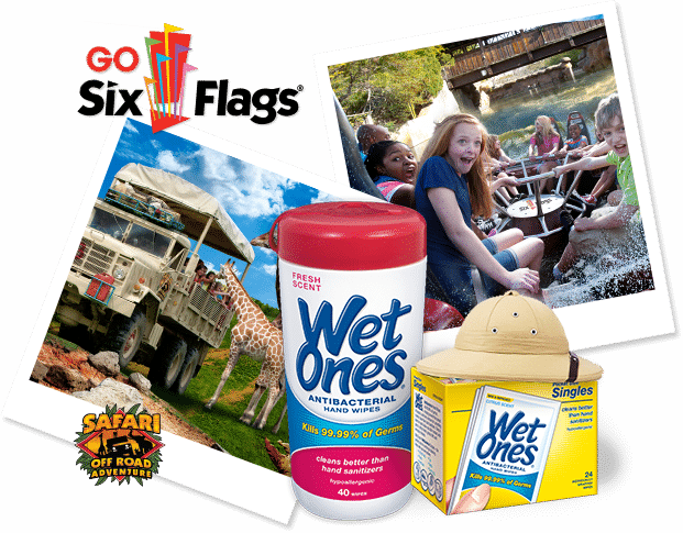 Wild for Wet Ones Sweepstakes with Six Flags Amusement Park - B-Inspired Mama