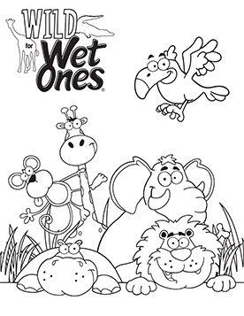 Free Coloring Page Download when you enter the Wild for Wet Ones Sweepstakes with Six Flags Amusement Park - B-Inspired Mama