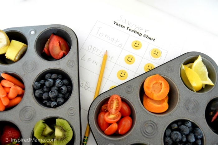 The kids will love this colorful taste test using an easy printable Taste Testing Sheet!