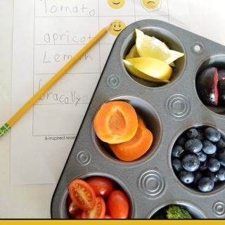 A Colorful Snack Taste Test using this FREE Printable Taste Testing Sheet!