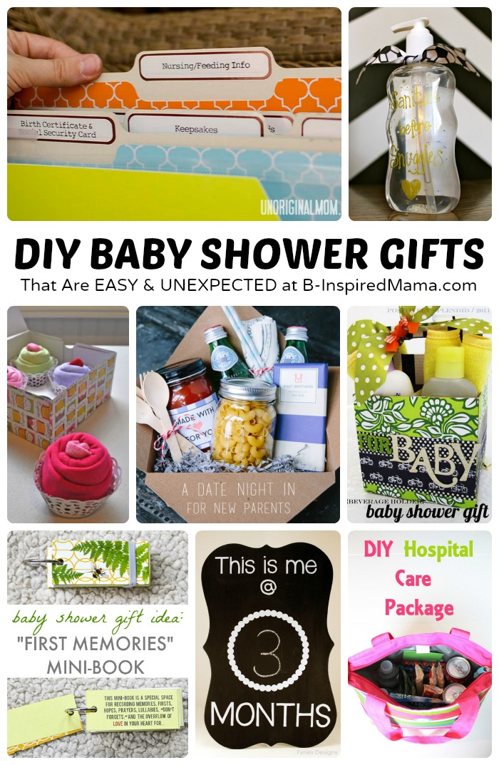 Easy and Unexpected DIY Baby Shower Gifts