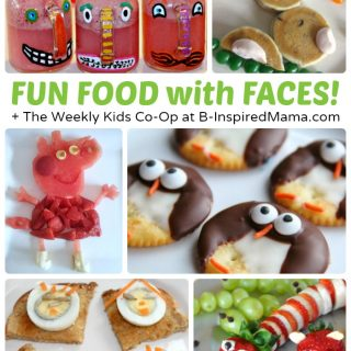 Fun Food with Faces + The Weekly Kids Co-Op Link Party at B-Inspired Mama
