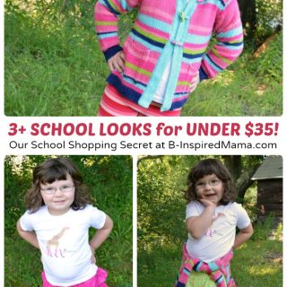 How We Got 3+ School Outfits for Under $35 - B-Inspired Mama [#sponsored by #MoxieBTS]