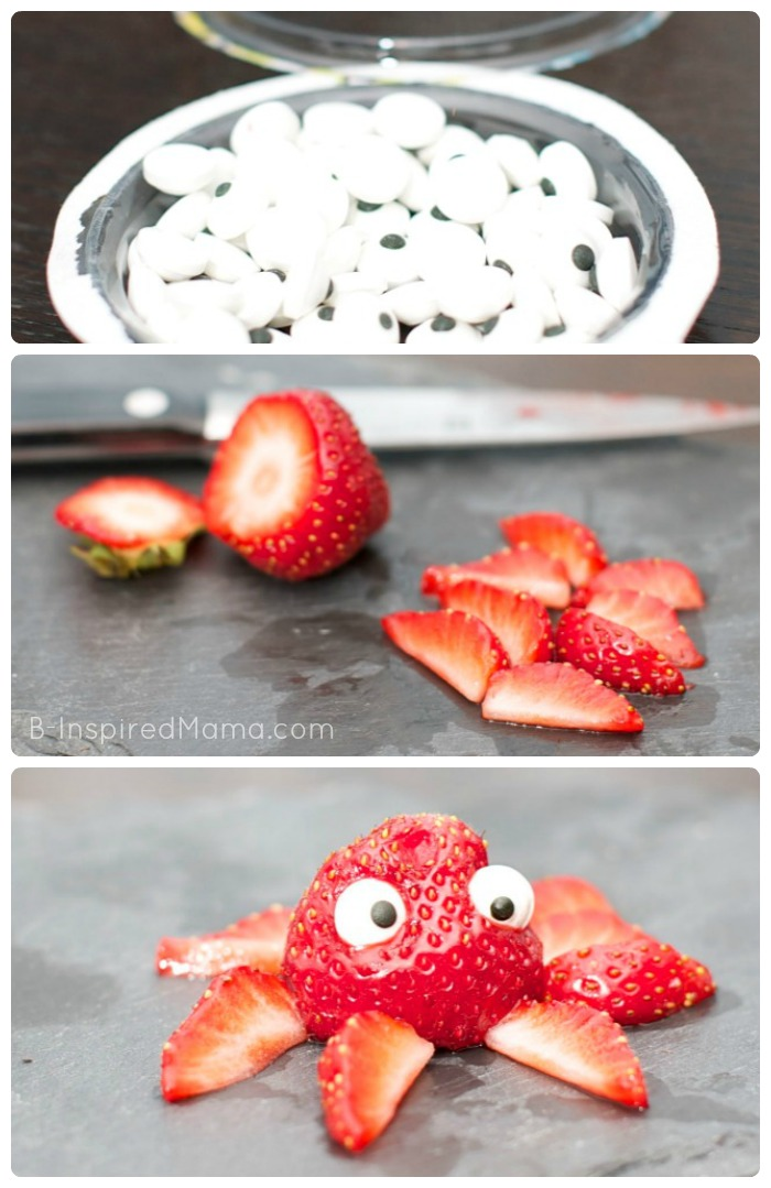 Silly & Fun Strawberry Octopus - A Kids in the Kitchen Recipe at B-Inspired Mama