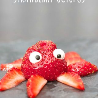Silly Strawberry Octopus - A Kids in the Kitchen Recipe at B-Inspired Mama