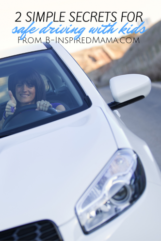 Simple Safe Driving Tips for Driving with Kids at B-Inspired Mama
