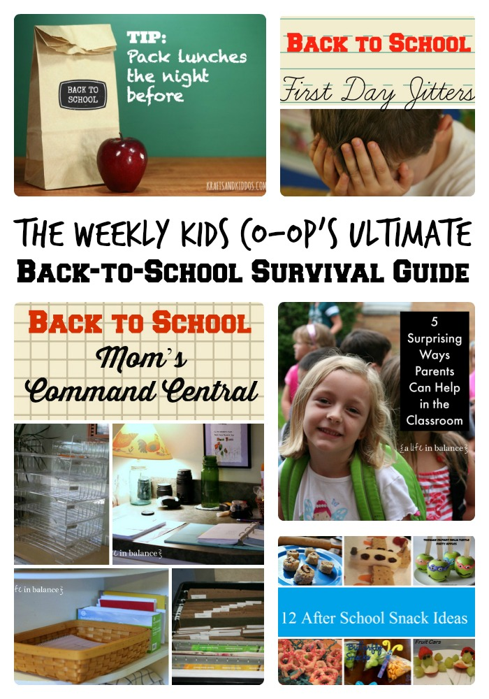 The Weekly Kids Co-Op's Ultimate Back to School Survival Guide + The Kids Co-Op Link Party at B-Inspired Mama