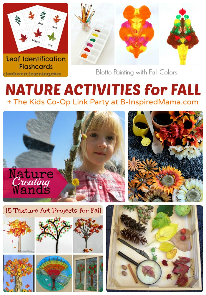 26+ Fall Activities for Kids - Apples and Nature Inspired - + The Kids Co-Op Link Party at B-Inspired Mama