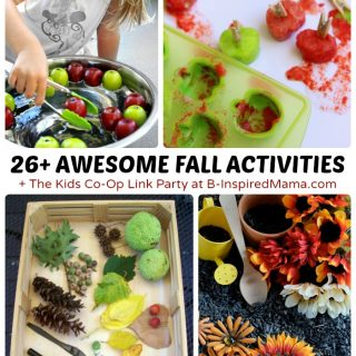26+ Fall Activities for Kids - Inspired by Apples and Nature - + The Kids Co-Op Link Party at B-Inspired Mama